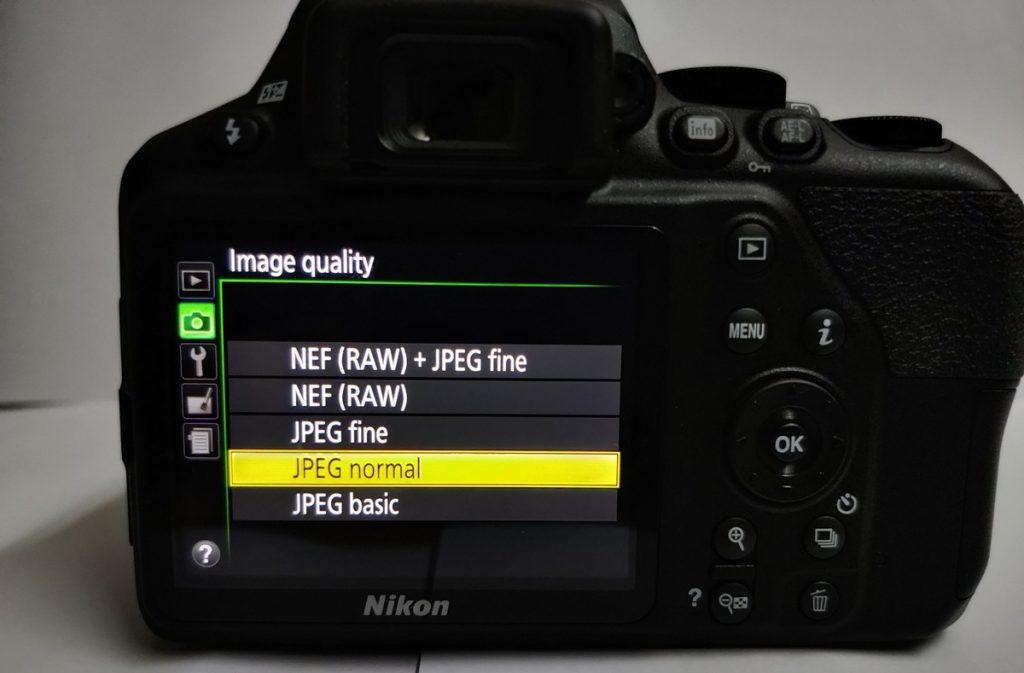 Image Type Raw or Jpeg