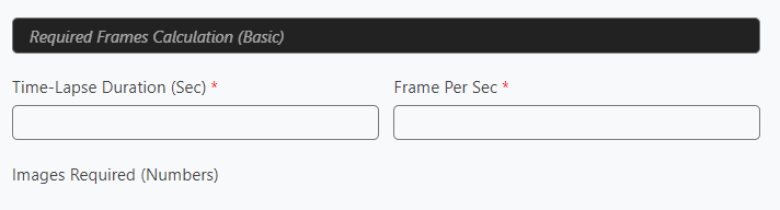 Basic Required Frames Calculator